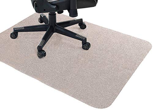GGoty Büro-Bodenschutz, rutschfeste Stuhlunterlage, geeignet für Teppichböden, 120 x 90 cm, Beige