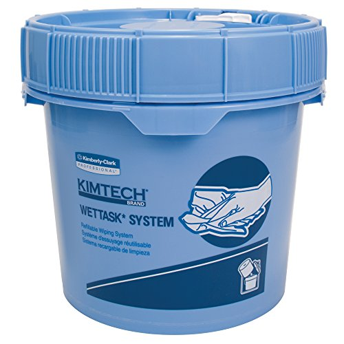 6 Rolls // Case 36101 Add Your Own Chemical 90 Sheets // Roll Hygienic Enclosed System Free Bucket Kimtech WetTask Dual Performance Wipers