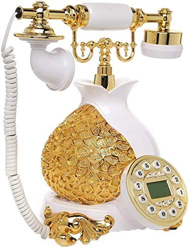 ZHAOH Línea Fija Retro Teléfono Antiguo Teléfono Vintage con Pantalla LCD Creative Teléfono de Gama Alta para Home Hotel Teléfono Decorativo