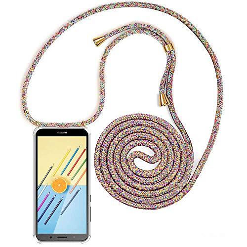 XCYYOO Carcasa de movil con Cuerda para Colgar Huawei P10 Lite【Versión Popular 2019】 Funda para iPhone/Samsung/Huawei con Correa Colgante para Llevar en el Cuello -Hecho a Mano en Berlin