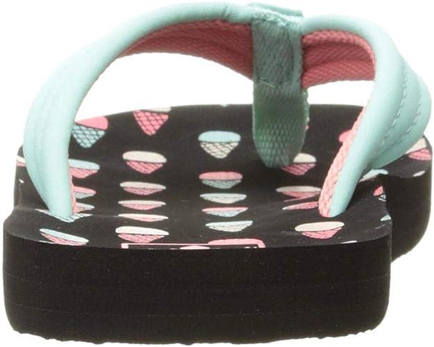 6//7US Polka Dot Reef Girls Ahi Kids Pool Beach Flip Flops Thongs Sandals