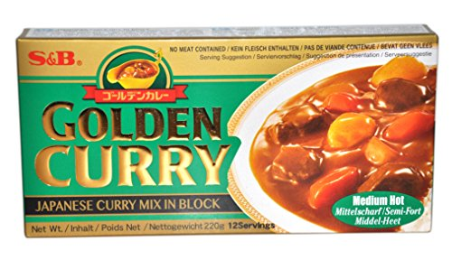 S & B Golden Curry medio caliente (sin carne se incluye)