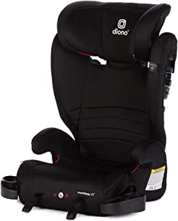 Diono Monterey XT LATCH, 2-in-1 Expandable Booster Seat, Midnight Black (Discontinued)