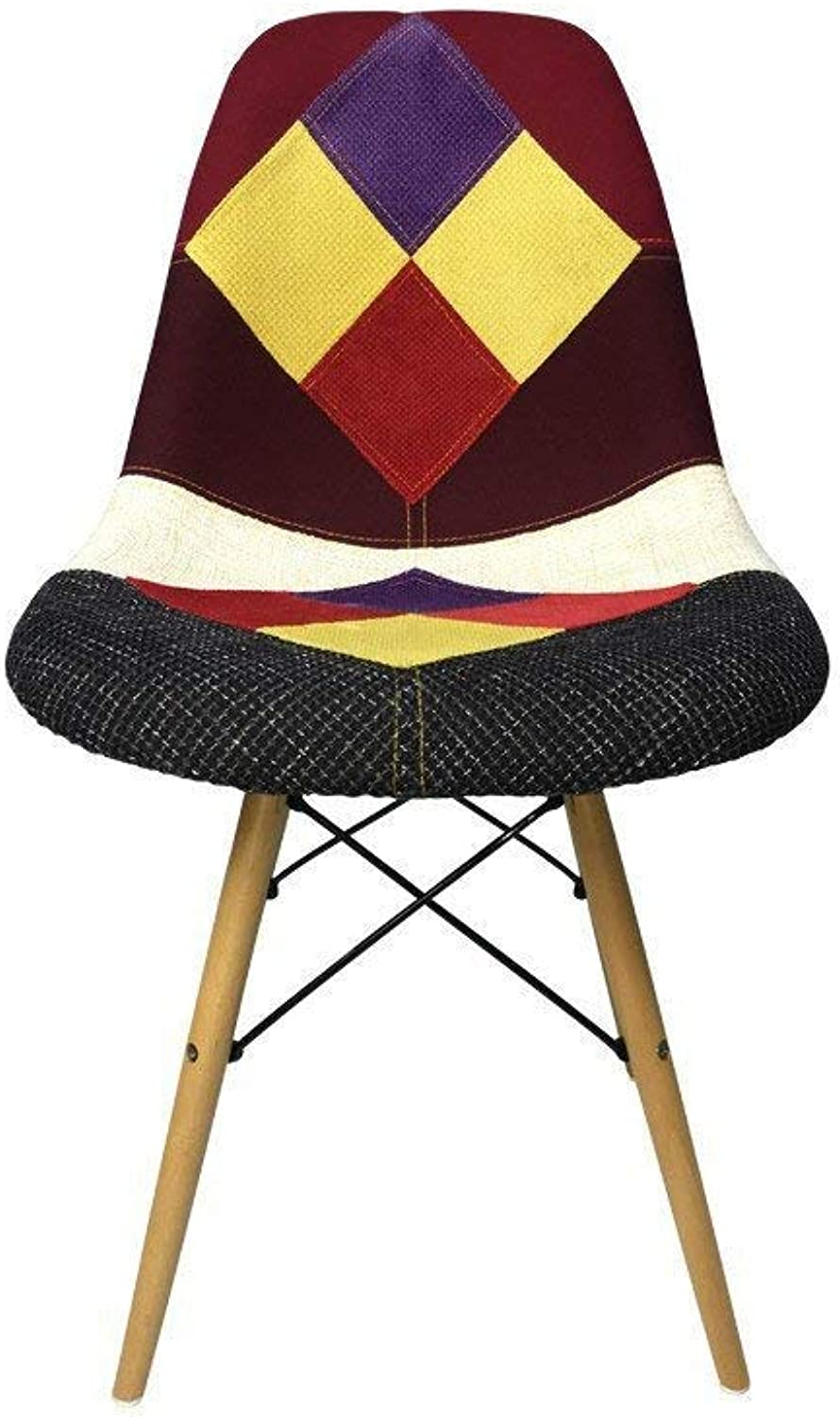 DSW Eiffel Dining Chair, Patchwork E Fabric