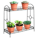 Best Choice Products 32-inch 2-Tier Indoor Outdoor Metal Multipurpose Plant...