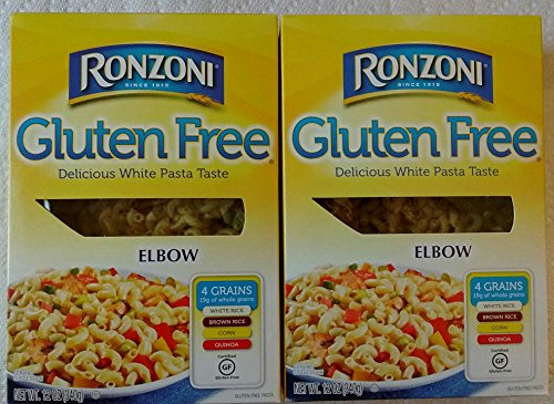 Ronzoni Gluten Free Elbow Pasta 2-Pack (Two 12-Ounce Boxes) White Pasta Taste - Flour From White & Brown Rice, Corn & Quinoa,