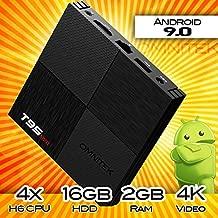 Android 9.0 TV Box, T95 Mini PC Android Box 2GB RAM 16GB ROM H6 Quadcore Smart TV Box 2.4GHz WiFi 3D 6K Streaming Media Player (2GB/16GB)