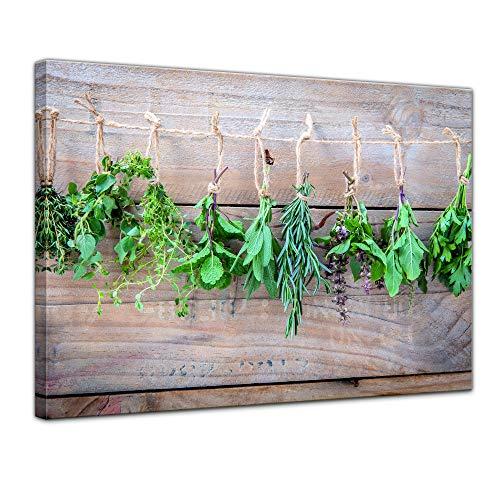 Bilderdepot24 Bild auf Leinwand | Küchenkräuter | in 50x40 cm als Wandbild | Wand-deko Dekoration Wohnung modern Bilder | 211483
