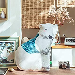MANGMOC Soft Big /Owl/Fox/Dog/Polar Bear Plush Pillows Doll Toys Stuffed Animals Rabbit Cushion Pillow for Girls Home Decoration Must Have Kids Items Funny Gifts Favourite Movie 5T Superhero Girls