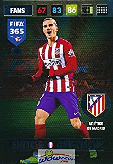 2017 Panini Adrenalyn XL FIFA 365 #55 Antoine Griezmann Fans' Favourite FANS Insert Card! Awesome Special Great Looking Card Imported from Europe! Shipped in Ultra Pro Top Loader to Protect it!