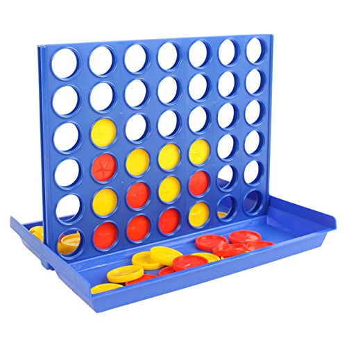 Swan household   - Travel Size - Four in A Line Game - Plastic toy bingo game funny 3D chess line four in a row win line up for family game - For 6+ Years