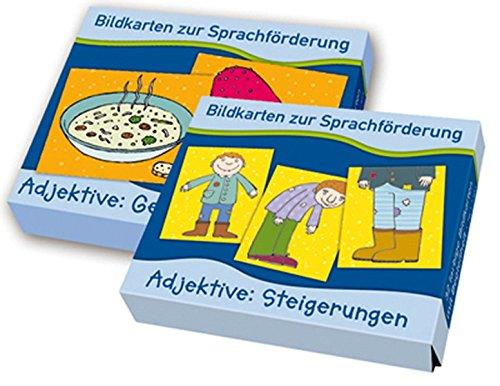 """PAKET Bildkarten zur Sprachförderung: Adjektive: Bestehend aus """"Adjektive: Gegensatzpaare"""" und """"Adjektive: Steigerungen"""""""