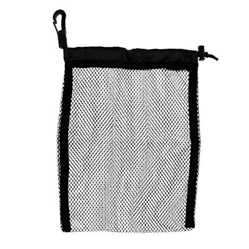 Inzopo buceo buceo aletas máscara gafas buceo snorkel natación playa cordón malla bolsa - negro 31 x 18 pulgadas