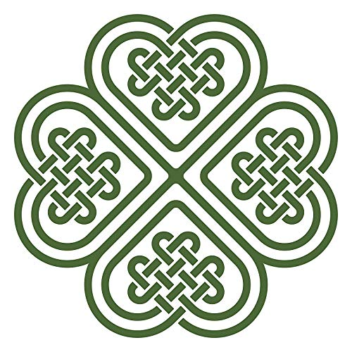 EW Designs Celtic Knot Four Leaf Clover Vinyl Decal Bumper Sticker (4' Wide)