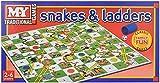 MY Schlangen und Leitern Brettspiel Traditionelle Kinder Spiele X 1