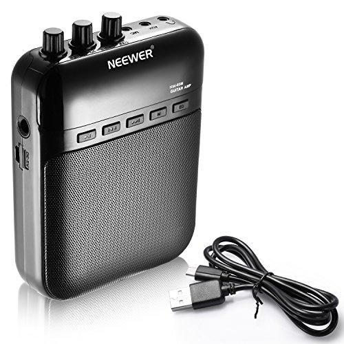 Neewer® NW-03M 5W Multifunktions tragbare Würfel elektronische Gitarren-Verstärker Recorder Lautsprecher Gitarrenverstärker -Unterstützungs-TF-Karte bis zu 32G (Schwarz)