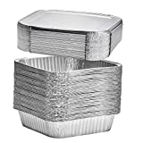 8' Square Disposable Aluminum Cake Pans - Foil Pans perfect for baking cakes, roasting, homemade...