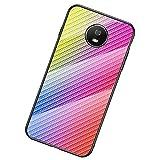 UKDANDANWEI Moto G5S Coque,Etui de Téléphone en Fibre de Carbone et Verre Trempé Transparent...