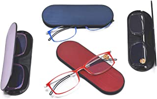 Qi Song 3mm Ultra Thin Anti Blue Ray Reading Glasses Unisex Eyeglasses Go with Exclusive Hard Case