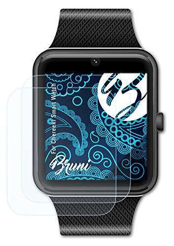Bruni Película Protectora Compatible con Chereeki Smart Watch Protector Película, Claro Lámina Protectora (2X)