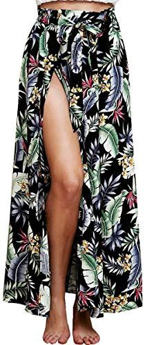 Elodiey Falda De Verano Señoras De Falda Floral Negocios Verano Impreso Maxi...