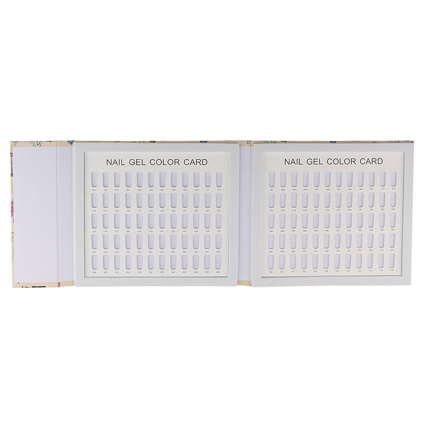 断片利益小切手Sharplace サロン ネイルアート マニキュア 表示 ボード ブック チャート パレット 全3種 - 120色#01