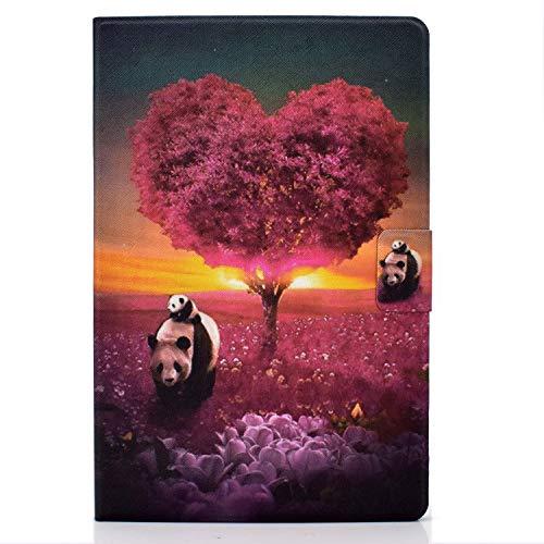 zl one compatible con / recambio para tablet PC Huawei MatePad T10s 10.1' / T10 9.7' / Enjoy Tablet 2 10.1' / Honor Pad 6 10.1' / Funda protectora de piel sintética (Panda)