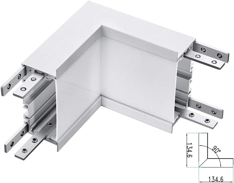 LEDLUX Verbindungsstück Form L Kurve Winkel Innen 10 W Wei 4000 K Für LED-Leuchtmittel Linieneinbau FP0381 SKU-387