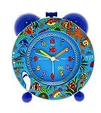 Baby Watch REVEIL Silencieux Ocean Enfant, Plastique, Bleu, 11 x 6 x 13 cm