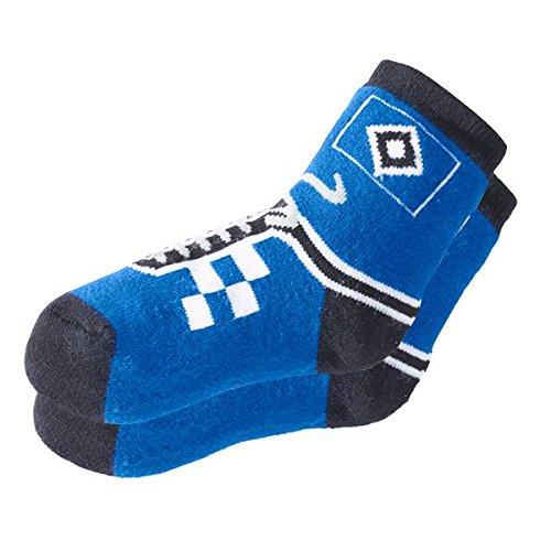 Hamburger SV Kindersocken Sneaker HSV - Plus gratis Aufkleber Forever Hamburg (21-24)