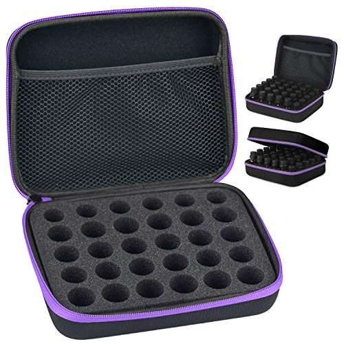 Hard Shell Shockproof Essential Oil case, 30 Bottles Carrying Storage Case Waterproof EVA Travel Bag for Nail Polish Bag Essential Oil and Accessories for 5ml, 10ml, 15ml Bottles