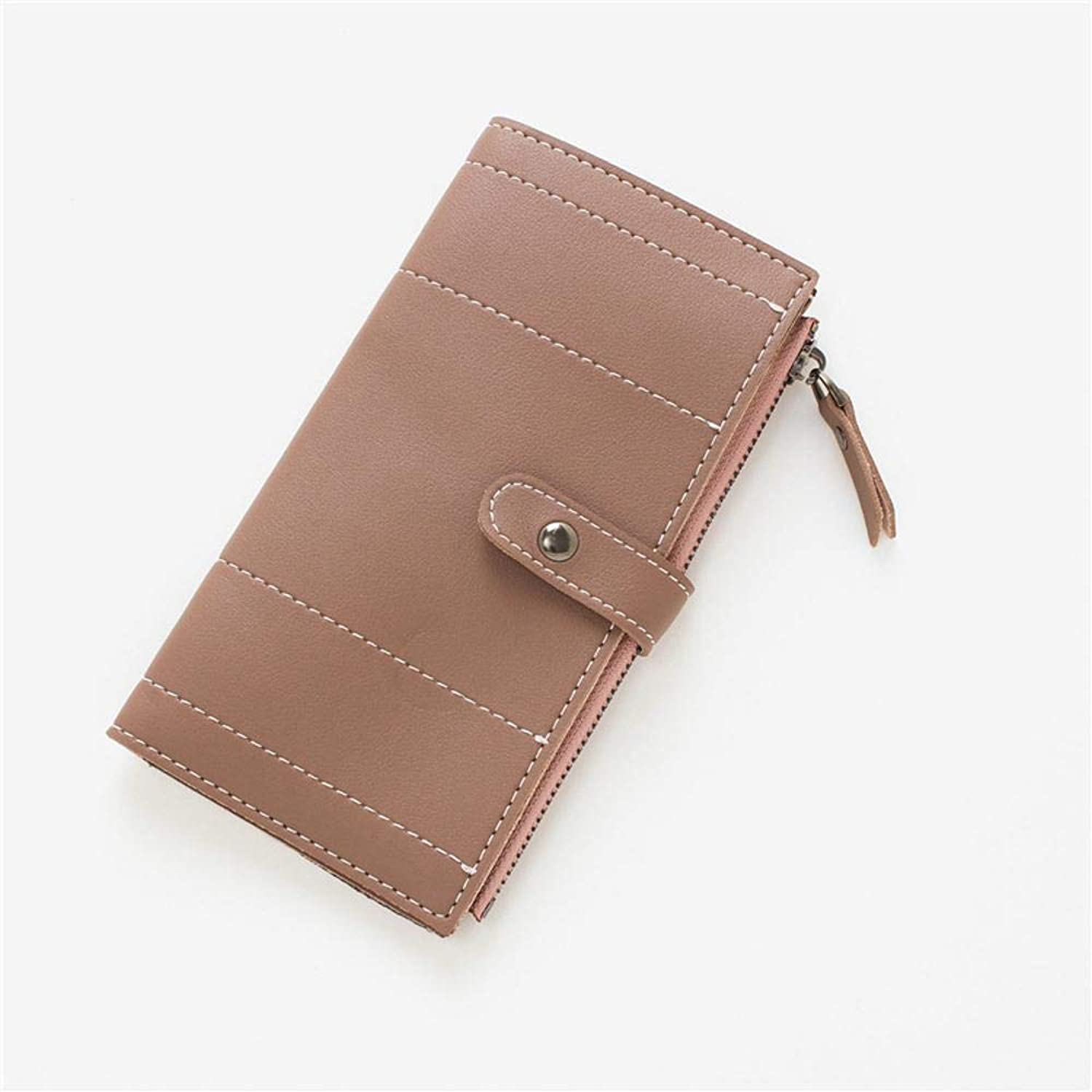 Girls Purse Women's Wallet Ladies Wallet Large Zip with PU Leather Wallet (color   A)