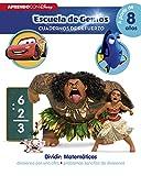 Dividir: Matemáticas: divisiones por una cifra · problemas sencillos de divisiones (Disney Escuela de Genios. Cuadernos de refuerzo): (Incluye pegatinas)