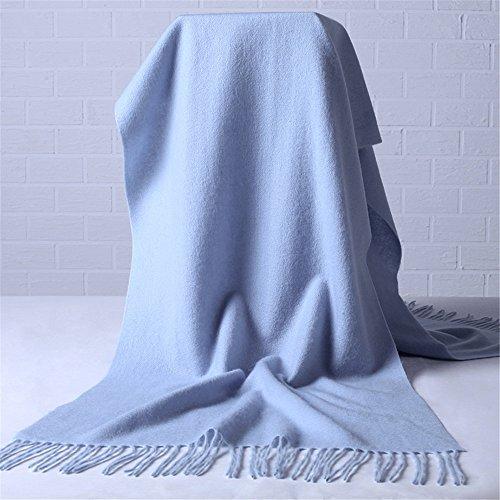 MONEYY La versión coreana de la bufanda de lana gruesa habitaciones climatizadas Mantón grande primavera y otoño invierno mujeres y dos a ultra-larga bufanda de color sólido 200*55cm.