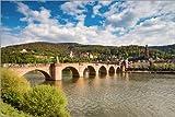 Poster 91 x 61 cm: Heidelberg Alte Brücke am Tag von