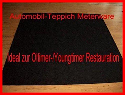Automobil-Teppich 2m x 2m schwarz Universal Velour Meterware