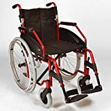 FAST FREE DELIVERY - Lightweight folding self propelled wheelchair with quick release wheels