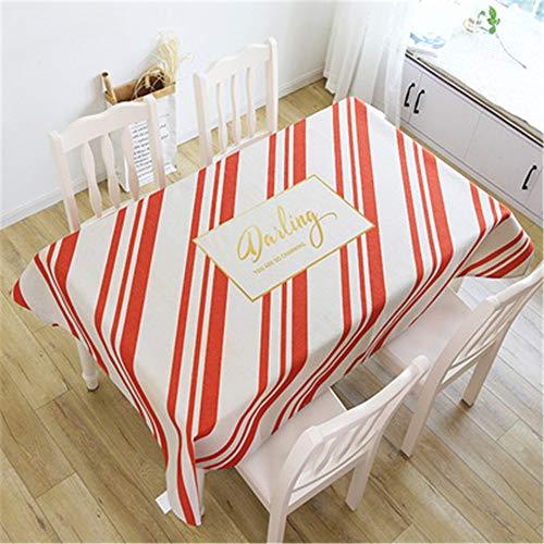 Qishi Mantel de lino de algodón para sala de estar comedor mantel de tela, Años de color, 140*180cm