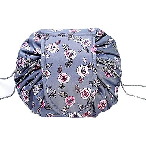 Drawstring Storage Bag Cosmetic Bag, Lazy Drawstring Magic Cosmetic Bag, Bucket Cosmetic Bag Large-Capacity Waterproof Travel Portable Cosmetic Bag (Drawstring#8)