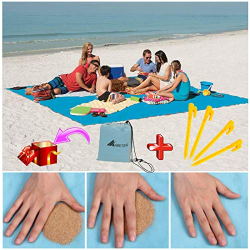 ABETER Sand Free Beach Mat Blanket Sand Proof Magic Sandless Sand Dirt & Dust Disappear Fast Dry...