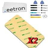 2x Zeetron Adhesive Sticky Sticker Tape for Ipod 4th Gen (2strips) + Microfiber Cloth + 6 Piece Tool Kit