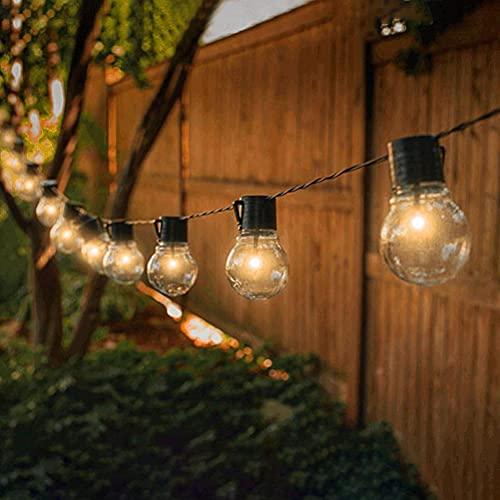 Prevessel Cadena de luces para exteriores, 10 LED de 6 pulgadas, luces de cadena de hadas solares IP65, resistente al agua, con 8 modos de iluminación para jardín, jardín, patio, balcón