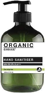 Organic Choice 500ml Antibacterial Hand Sanitiser Gel kills 99.9% Gems 75% Alc