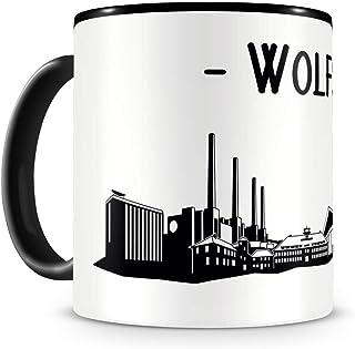 Samunshi Wolfsburg Skyline Tasse Kaffeetasse Teetasse H:95mm/D:82mm schwarz