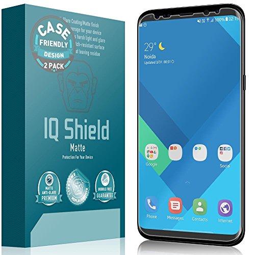 IQ Shield Matte Screen Protector Compatible with Samsung Galaxy S8 (Case Friendly)(2-Pack) Anti-Glare Anti-Bubble Film