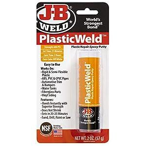 J-B Weld 8237 PlasticWeld Plastic Repair Epoxy Putty – 2 oz.
