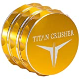 Titan Crusher - Best Herb Grinder [Upgraded Version] II Medium 4 Piece