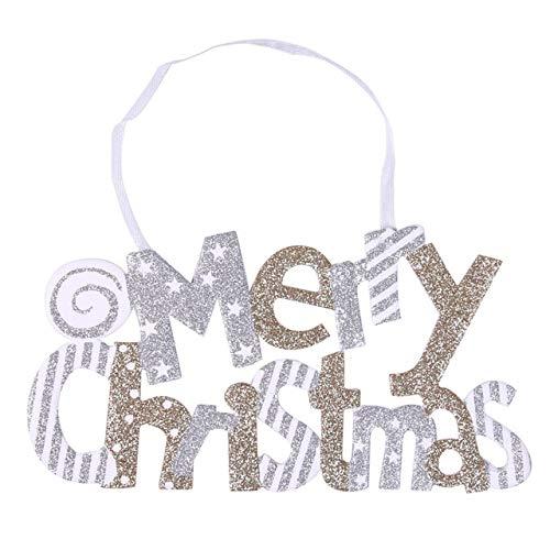 US Warehouse - Pendant & Drop Ornaments - Christmas Decoration Merry Christmas Alphabet Card Ornaments Xmas Tree Ornament Decor Creative Pendant DIY Hanging Ornament - (Color: C)