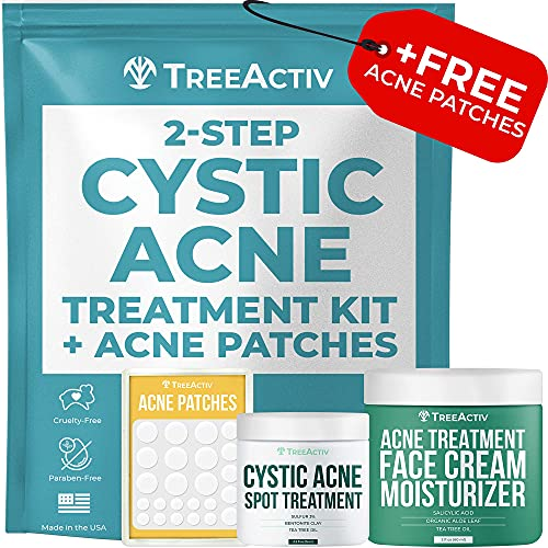 TreeActiv 2-Step Cystic Acne Treatment Kit – Salicylic Acid Pimple...