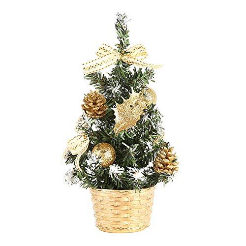 Demarkt–Árbol de Navidad Mini árbol de Navidad 20cm, Dorado, Golden(20cm)